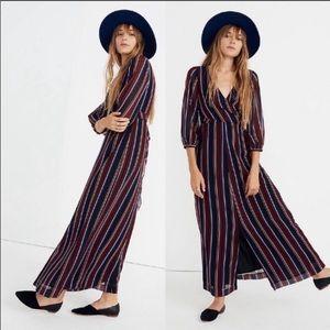 Madewell Wrap-Around Maxi Dress Stockdale Stripe